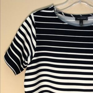 (The Limited) Striped Short Sleeve Top